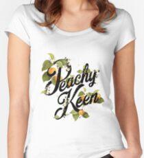 Peachy Keen: Minze Tailliertes Rundhals-Shirt