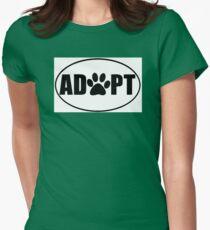 ADOPT pet sticker Womens Fitted T-Shirt