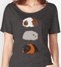 Trio de cochon de Guinée T-shirts coupe relax