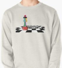 Colored Chess King Piece on Chessboard Pullover