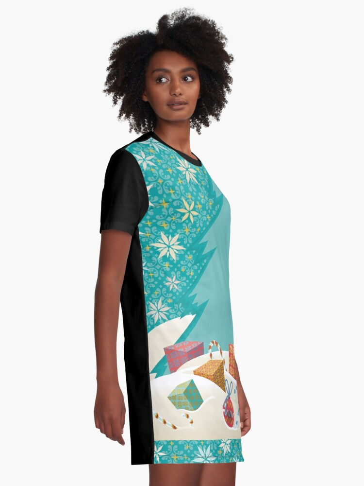Alternate view of Christmas Eve Graphic T-Shirt Dress