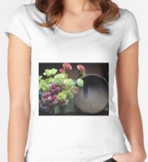 Feather & Flower Blossoms and Blooms Women's Fitted Scoop T-Shirt