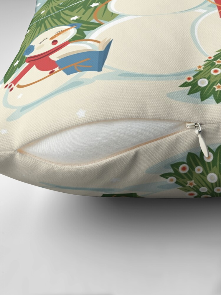 Alternate view of Christmas Song Throw Pillow
