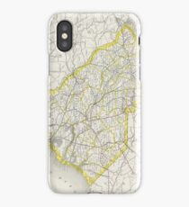 Vintage Map of South Carolina (1889) iPhone Case