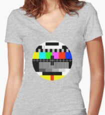 No signal (ERROR) Women's Fitted V-Neck T-Shirt