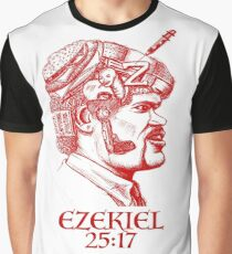 Ezekiel 25:17 The Path of the Righteous Man Graphic T-Shirt