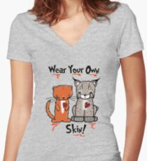 Wear Your Own Skin! Women's Fitted V-Neck T-Shirt