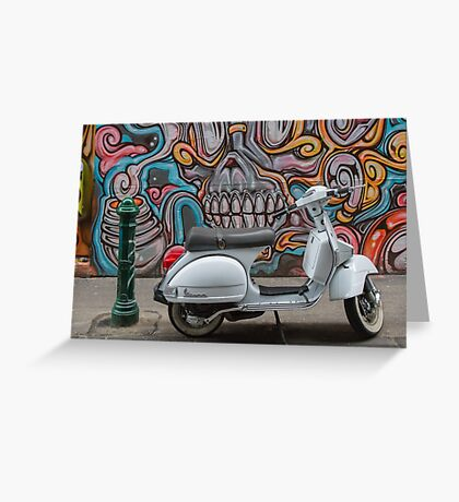 Vespa in Hosier Lane ,Melbourne Greeting Card