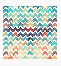 Watercolor Chevron Pattern Photographic Print