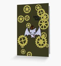 SteamPunk Bat Greeting Card