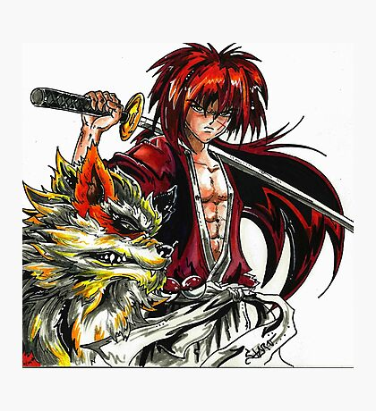 Kenshin with Arcanine  Photographic Print