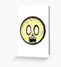 Smiley Done Died Greeting Card