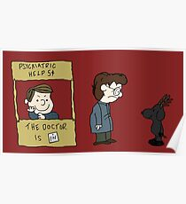 THE DOCTOR IS IN - Hannibal & Peanuts Crossover Art Poster