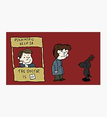 THE DOCTOR IS IN - Hannibal & Peanuts Crossover Art Photographic Print