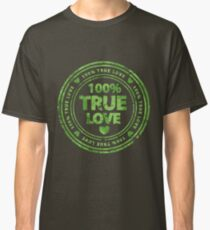 100% True Love Pink St. Valentine's Day Stamp Classic T-Shirt