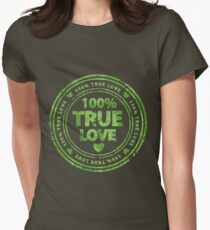 100% True Love Pink St. Valentine's Day Stamp Women's Fitted T-Shirt