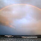 beach rainbow  by geophotographic