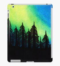 Aurora Borealis with Trees iPad Case/Skin