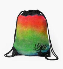 Aurora Australis with Tree Drawstring Bag