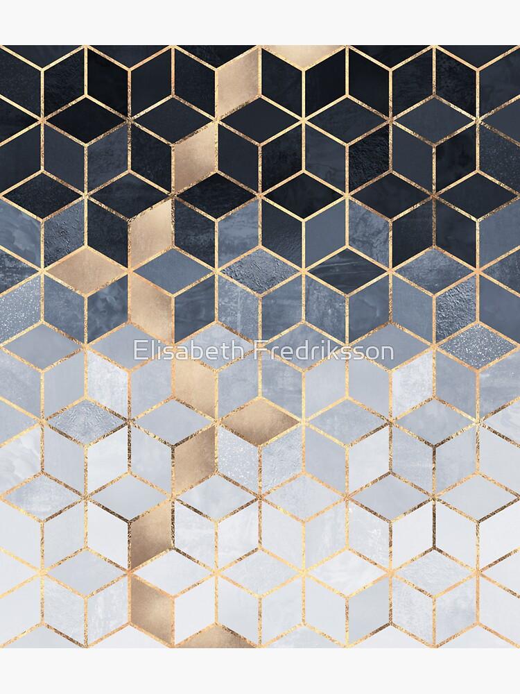 Soft Blue Gradient Cubes by foto-ella