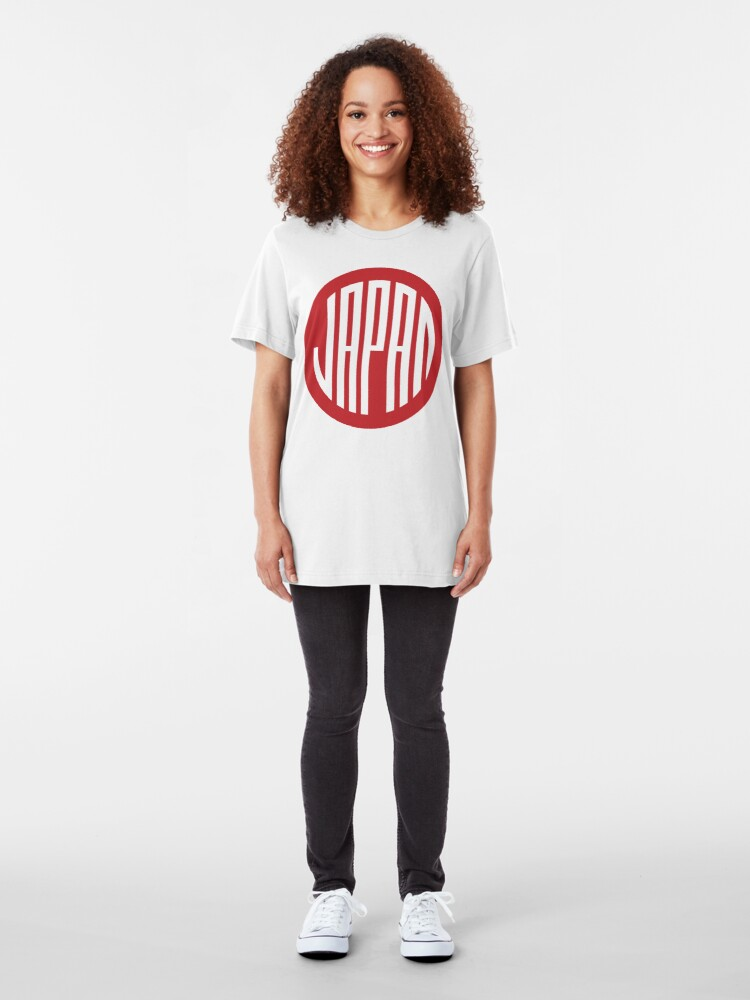 Alternate view of Japan - japanese round design symbol Slim Fit T-Shirt