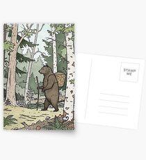 Postales Oso en el bosque