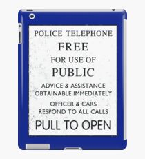 Tardis door sign iPad Case/Skin