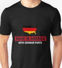 Made In America With German Parts Germany Flag T-Shirt
