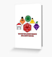 Polyhedral Pals - Merry CritMiss! Greeting Card