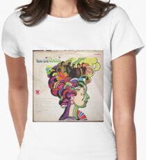 Now and Them, Psychedelic Garage Rock lp Women's Fitted T-Shirt