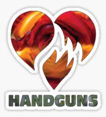Hand Guns Disenchanted Sticker