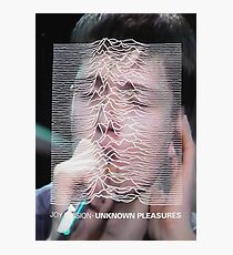 Ian Curtis/Unknown Pleasures mix up Photographic Print