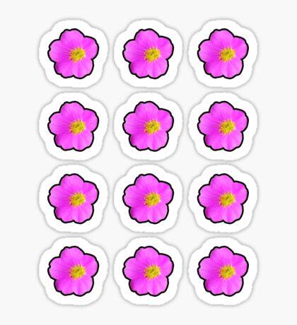Pink Wildflower with Black Border Sticker