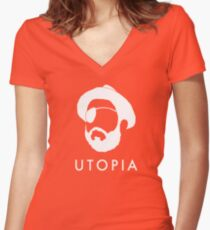 UTOPIA - Wilson Women's Fitted V-Neck T-Shirt