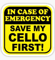Cello Emergency Sticker