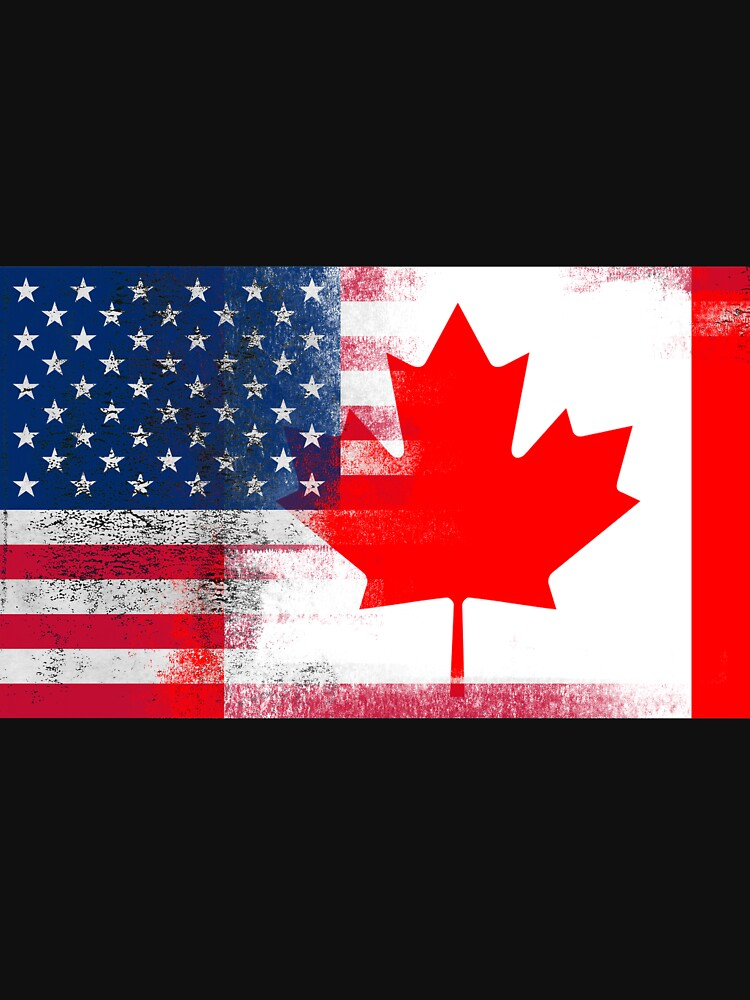 canadian american half canada half america flag unisex t shirt by