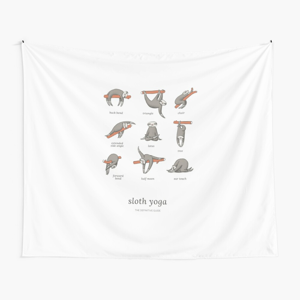 Sloth Yoga - The Definitive Guide Wall Tapestry