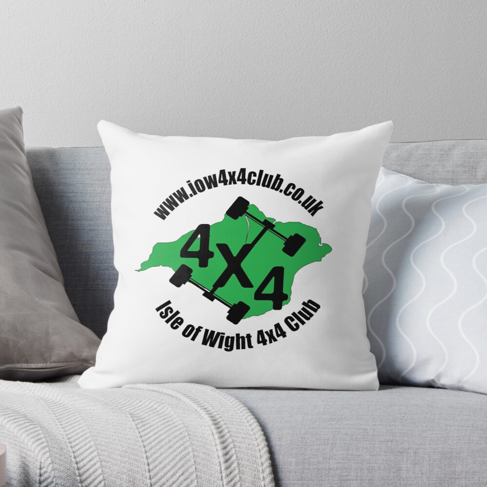 IOW 4x4 Club Logo Throw Pillow