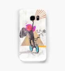 Rainbow child riding a bike Samsung Galaxy Case/Skin