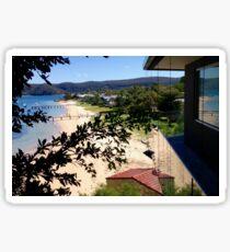 High View Sandy Beach Sticker