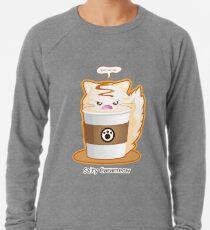 Purrista Pawfee: Salziger Karamell Kitty Kaffee Leichtes Sweatshirt