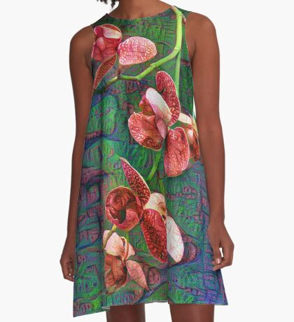 Phalaenopsis A #DeepDream A-Line Dress