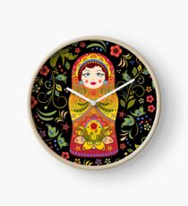 russian doll matryoshka Clock