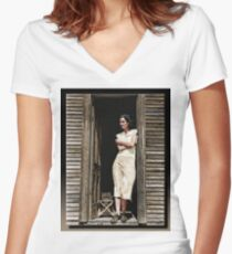 The Doorway Women's Fitted V-Neck T-Shirt