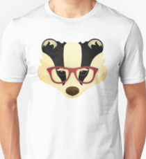 Hipster Badger Unisex T-Shirt