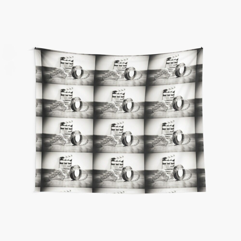 Clapperboard & Film Wall Tapestry