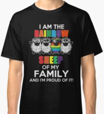 Funny Lesbian - I Am The Rainbow Sheep Of My Family And I'm Proup Of It Tshirts Lesbian Gag Gifts Classic T-Shirt