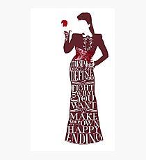 Regina Mills Make Your Own Happy Ending Photographic Print