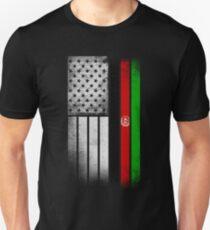 Afghan American Flag Unisex T-Shirt