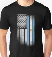 Argentina American Flag Unisex T-Shirt